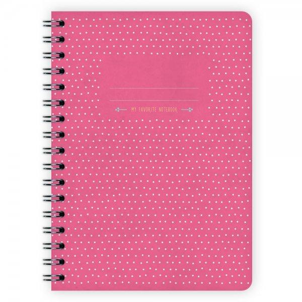 Notizblock Pünktchen Pink A6
