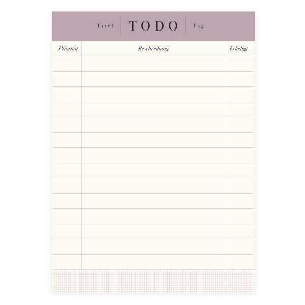To-Do-Liste Block A6