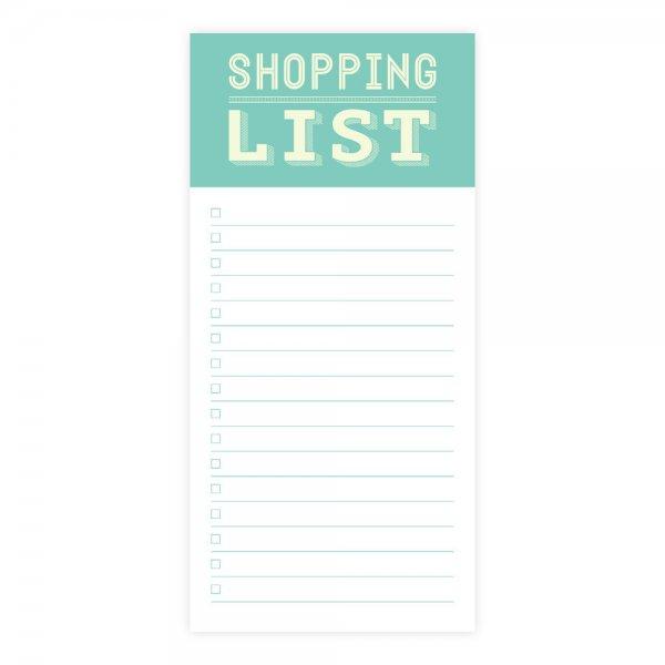 Einkaufsliste Block 10 x 21 cm