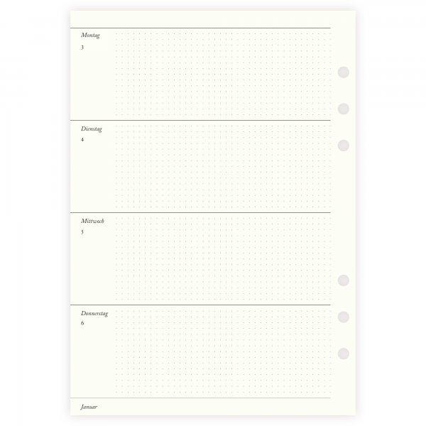 Einlagen 2022 A5 | 1W2S | horizontal Punktraster