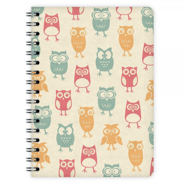 Notizblock Owl Pattern A6