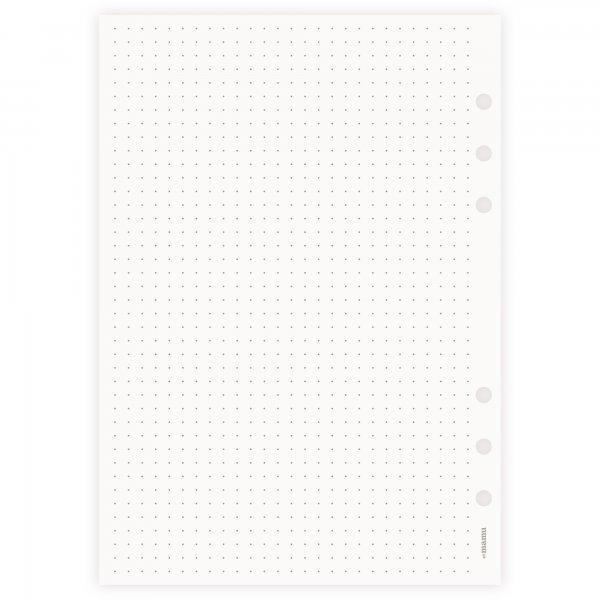 Einlagen A5 | Punktraster | 5mm