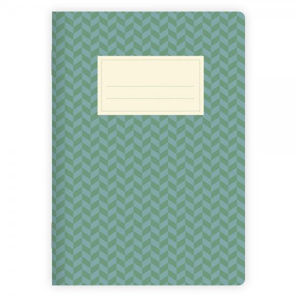 Notizheft Muster Grün-Blau A5