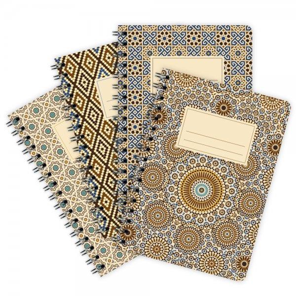 4er-Pack Notizblöcke Muster Marokko A6