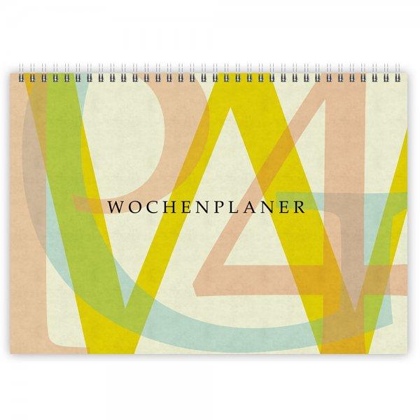 Wochenplaner Typo-Design A4