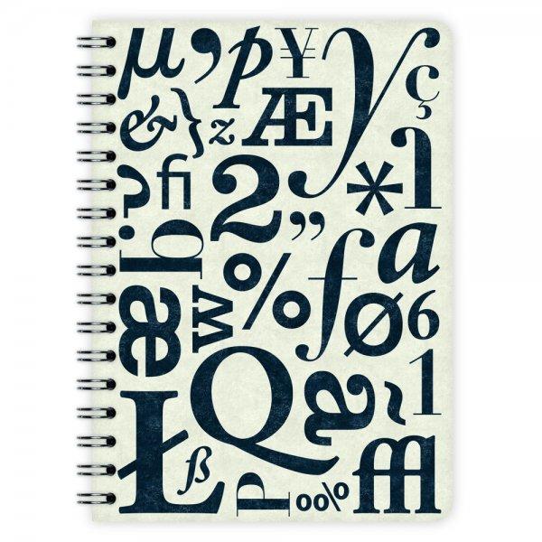 Notizblock Typo-Muster A6