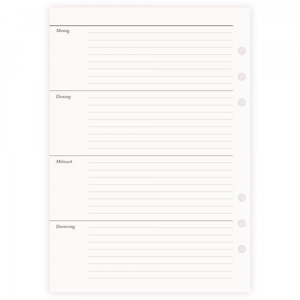 Einlagen A5 | 1 Woche 2 Seiten | undatiert liniert