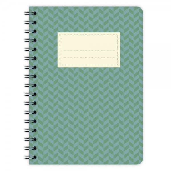 Notizblock Muster Grün-Blau A6