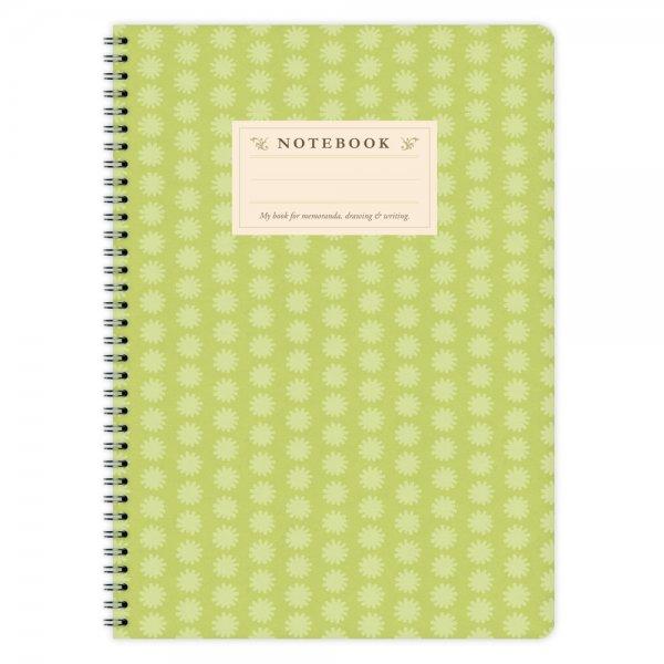 Notizblock Grünes Muster A4