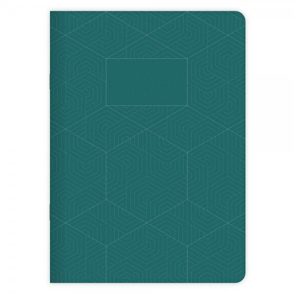 Notizheft Geometric Nr. 3 A5   Atoll-Grün