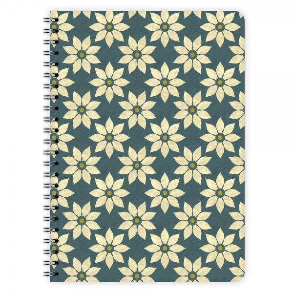 Notizblock Blumen-Muster A5