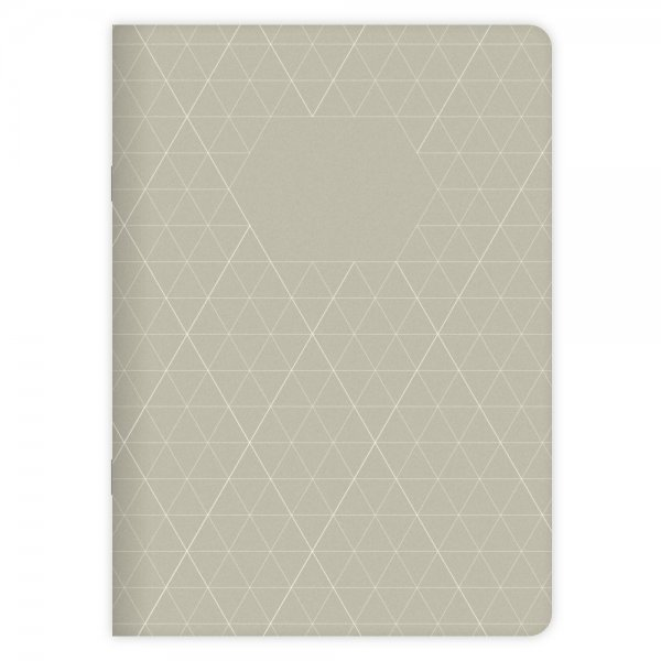 Notizheft Geometric Nr. 1 A5 | Känguru-Grün