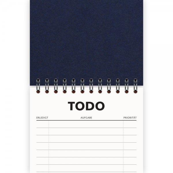 To-Do-Liste DIN A6 | Farbe Dunkelblau