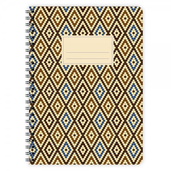 Notizblock Muster Marokko Nr. 4 A5