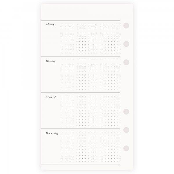 Einlagen Personal | 1 Woche 2 Seiten | undatiert Punktraster