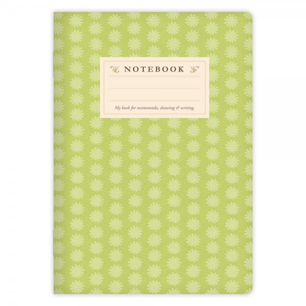 Notizheft Grünes Muster A5