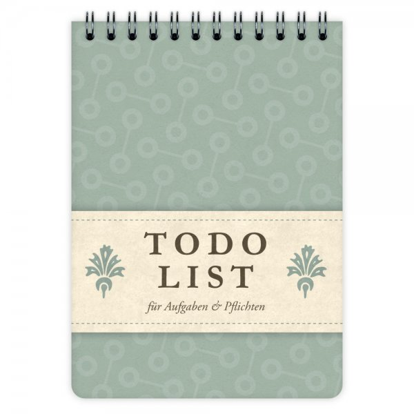 Todo List Pattern Turqoise A6