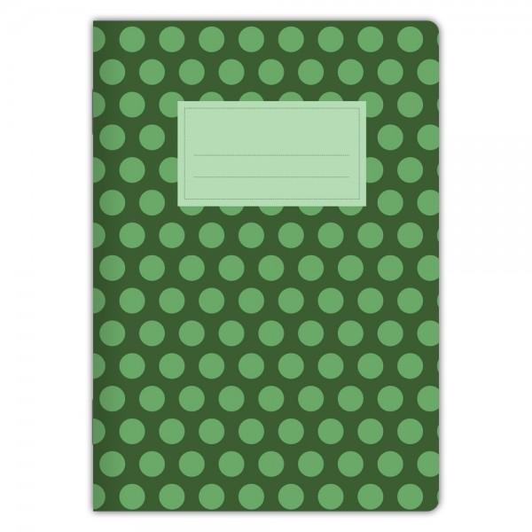 Notizheft Grüne Punkte A5