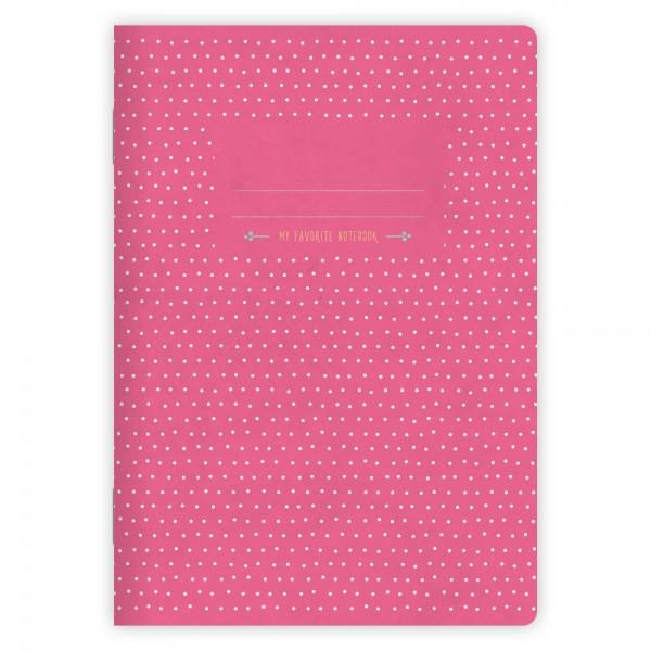 Notizheft Pünktchen Pink A5