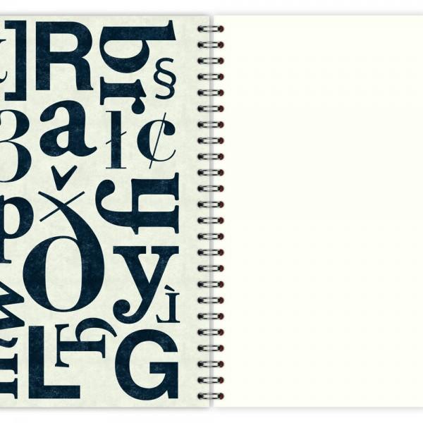 Notizblock Typo-Muster A5