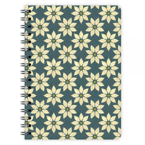 Notizblock Blumen-Muster A6