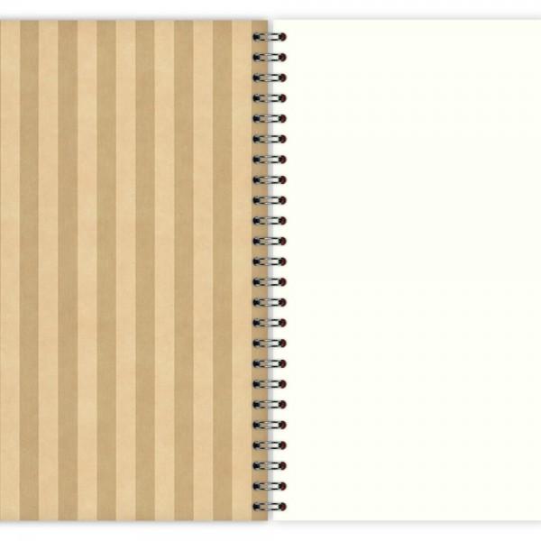 Notizblock Flower & Stripes A5