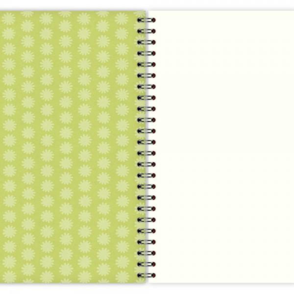 Notizblock Grünes Muster A5