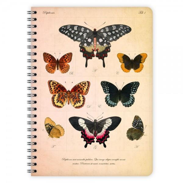 Notizblock Schmetterlinge A5