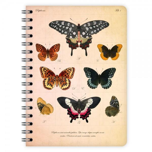 Notizblock Schmetterlinge A6