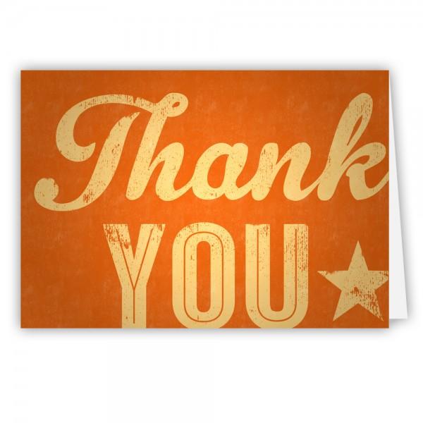 Grußkarte Danke - Thank You, Typo-Motiv